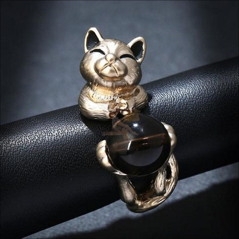 Image of Cat Titanium Promise Ring Design by Blissfactory Pet Supplies