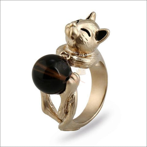 Cat Titanium Promise Ring by Blissfactory Pet Supplies