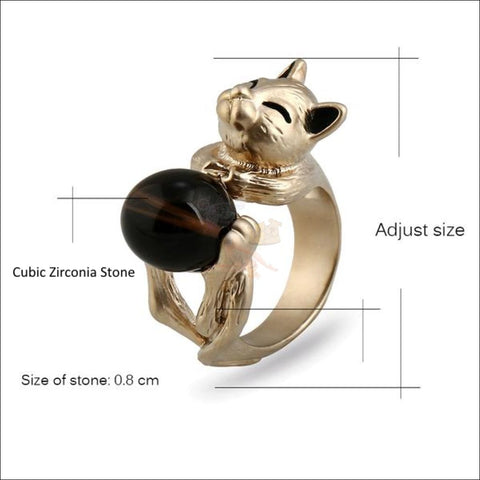 Image of Cat Titanium Promise Ring Measurement by Blissfactory Pet Supplies