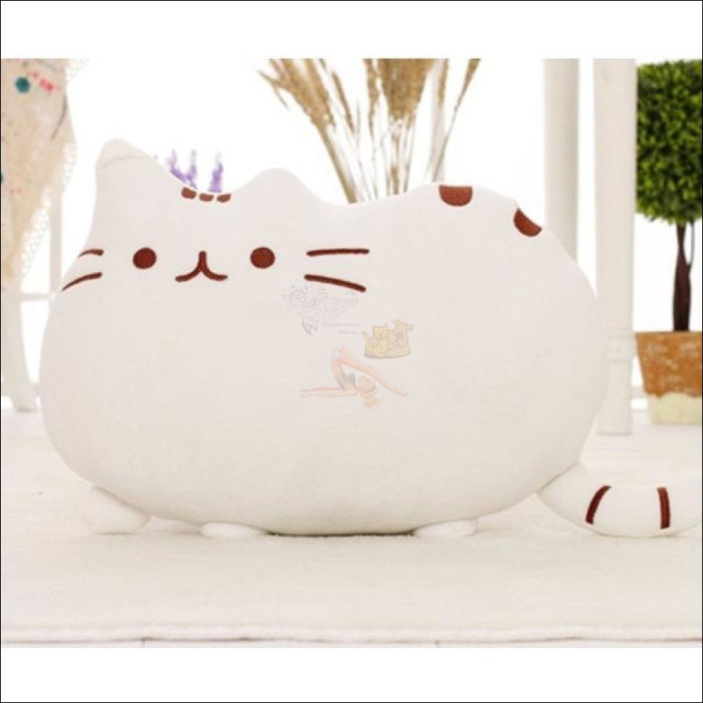 Home Deco Cute Plush Cat Cushions White Pillow