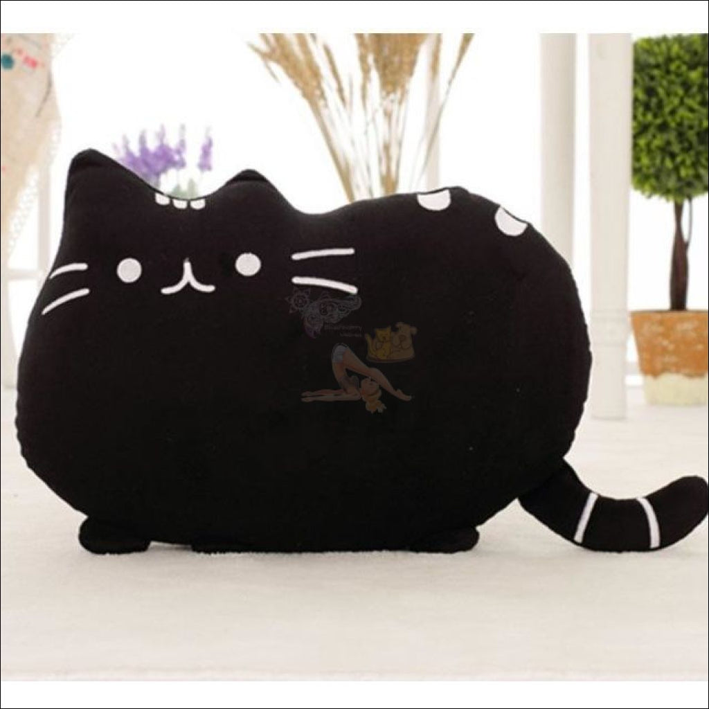 Home Deco Cute Plush Cat Cushions Black Pillow