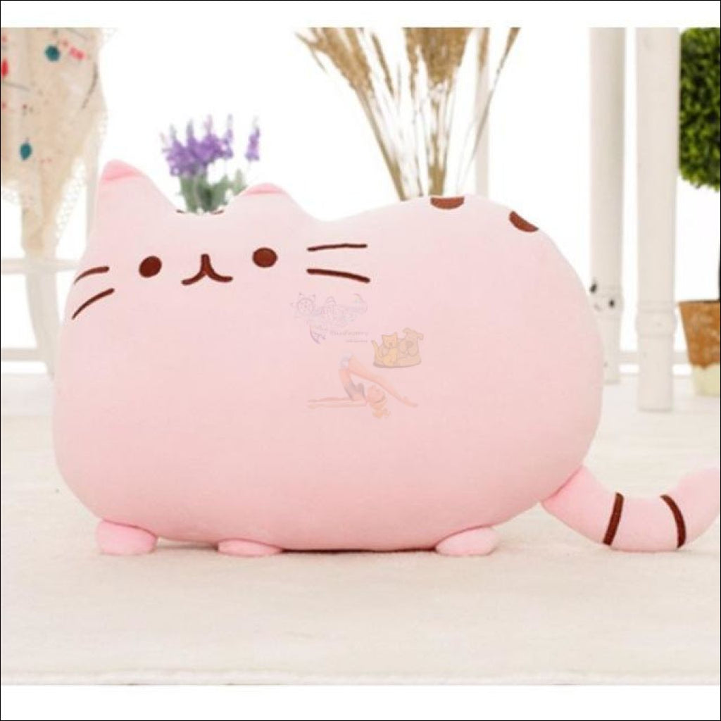 Home Deco Cute Plush Cat Cushions Pink Pillow