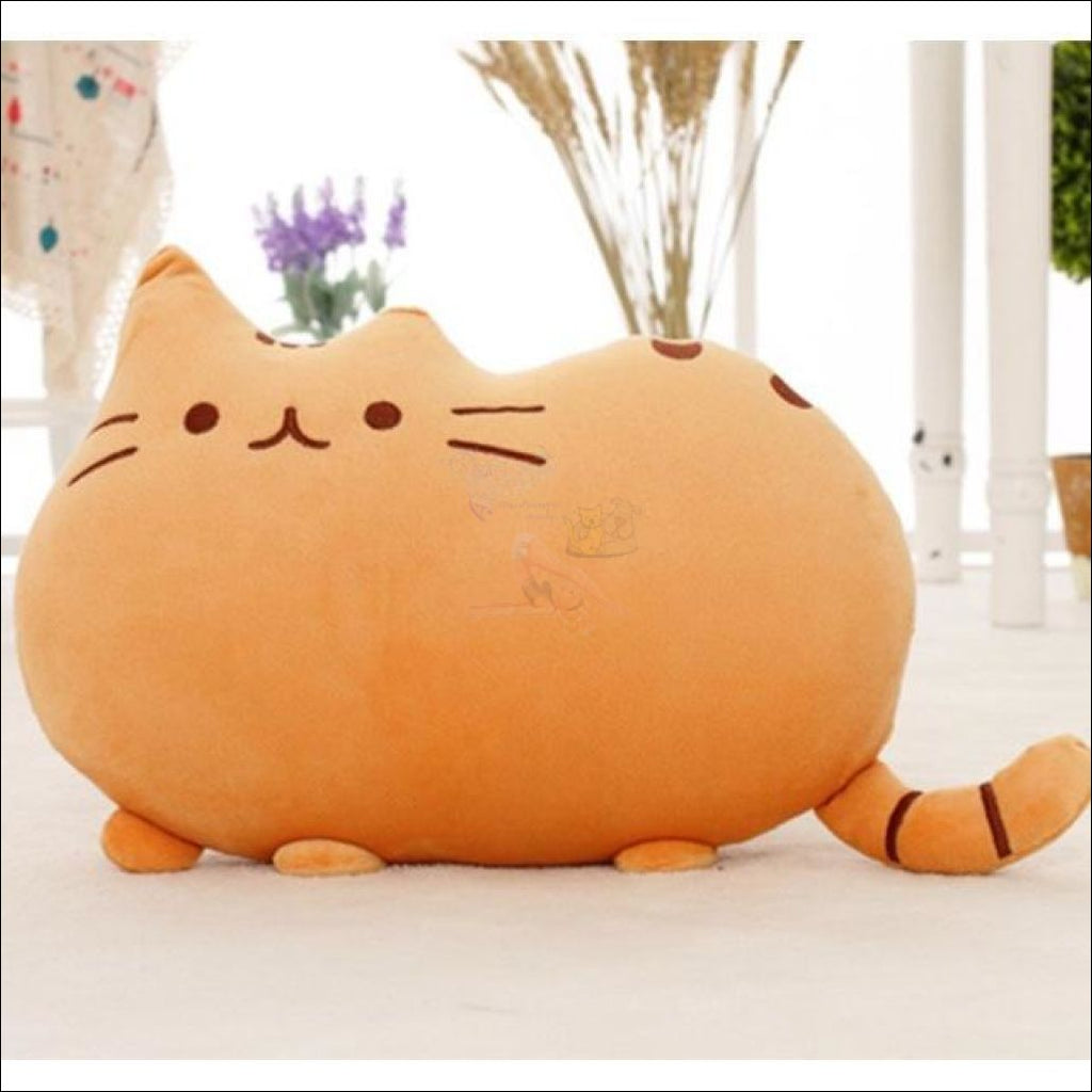 Home Deco Cute Plush Cat Cushions Orange Pillow