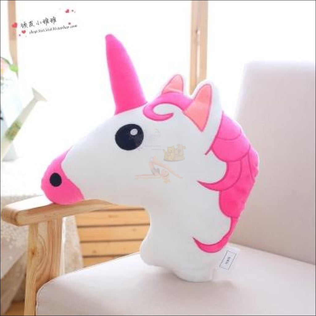Huggly Unicorn Outdoor Cushions Unicorn Head Pink  by Blissfactory Pet Supplies