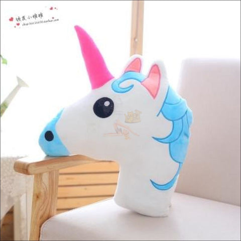 Huggly Unicorn Outdoor Cushions Unicorn Head Blue  by Blissfactory Pet Supplies