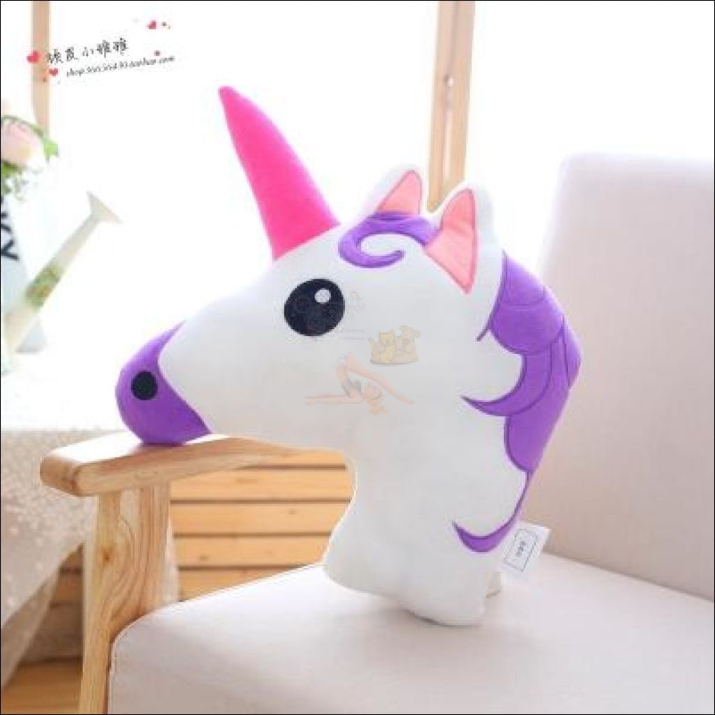Huggly Unicorn Outdoor Cushions Unicorn Head Purple by Blissfactory Pet Supplies