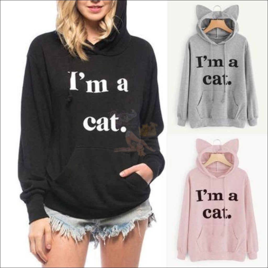 Cat Ear Hoodies For Girls - Best Sweatshirts For Women Different Colors by Blissfactory Pet Supplies