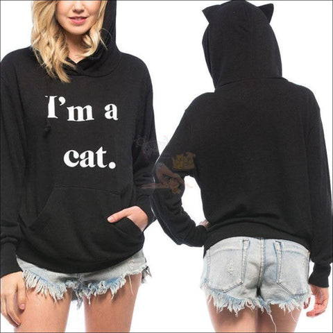 Image of Cat Ear Hoodies For Girls - Best Sweatshirts For Women Mockup by Blissfactory Pet Supplies