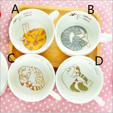 Image of Japanese Porcelain CAT Coffee Mugs Coffee Table sets /Tea Set 4 design by Blissfactory Pet Supplies