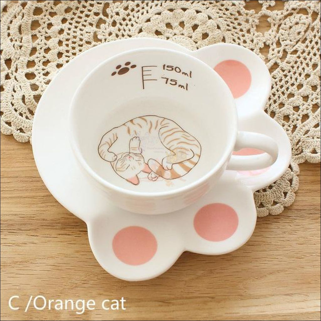 ... Japanese High Quality Porcelain Cat Mug u0026 Plate Coffee/tea Set (Collection Cup 4 ...  sc 1 st  BlissFactory Wellness & Japanese High Quality Porcelain CAT Mug u0026 Plate Coffee/Tea Set ...