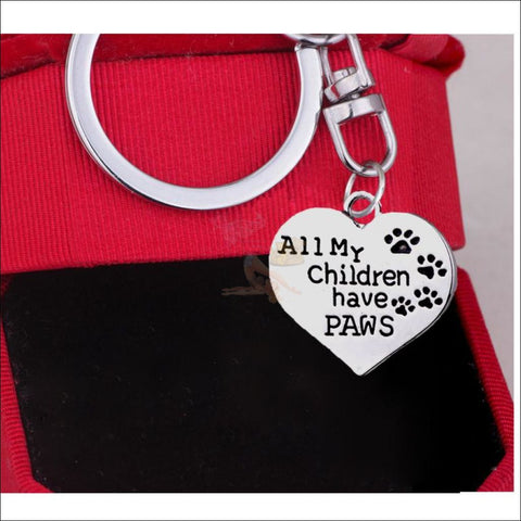 Keychain - All My Children Have Paws!