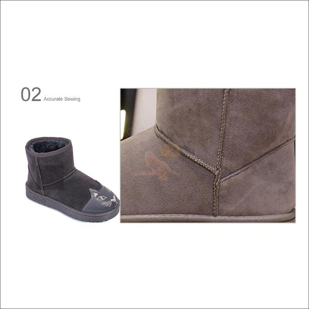 Lovely Cat Ankle Boot or Snow Boots Material by Blissfactory Pet Supplies