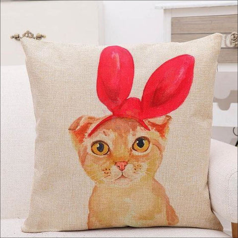 Lovely Cat Pillow Covers- Best Home Decor Sweet Susie by Blissfactory Pet Supplies