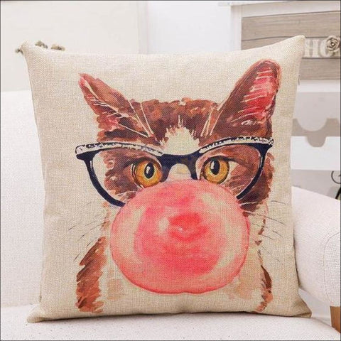 Lovely Cat Pillow Covers- Best Home Decor Bubble cat by Blissfactory Pet Supplies
