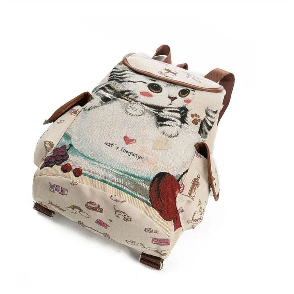 Lovely Cat Backpack | Backpacks For School Backpack Cup Kitten by Blissfactory Pet Supplies