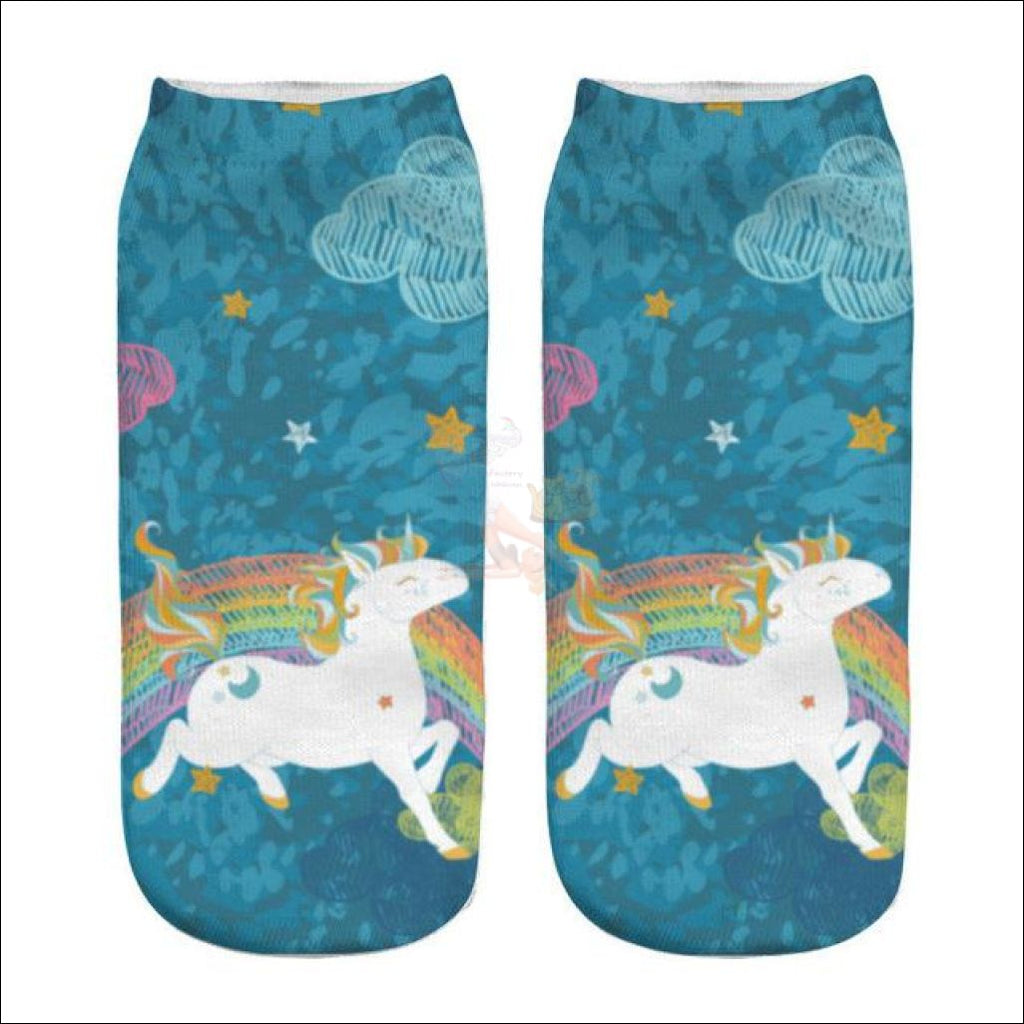 LOVELY UNICORN COOL SOCKS- BOOT SOCKS Unicorn 10 by Blissfactory Pet Supplies