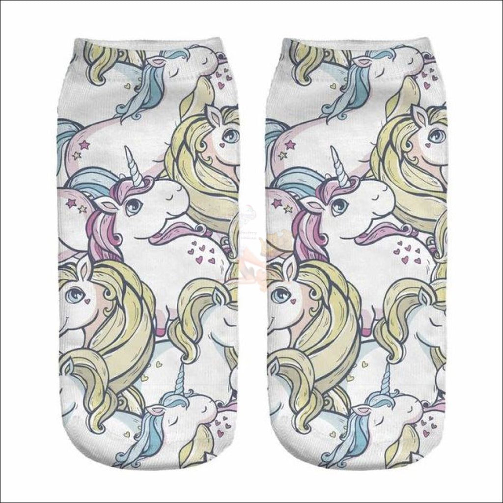 LOVELY UNICORN COOL SOCKS- BOOT SOCKS Unicorn 5 by Blissfactory Pet Supplies