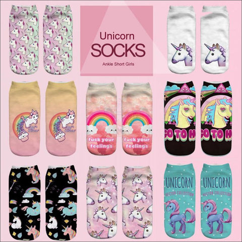 Image of LOVELY UNICORN COOL SOCKS- BOOT SOCKS different design by Blissfactory Pet Supplies