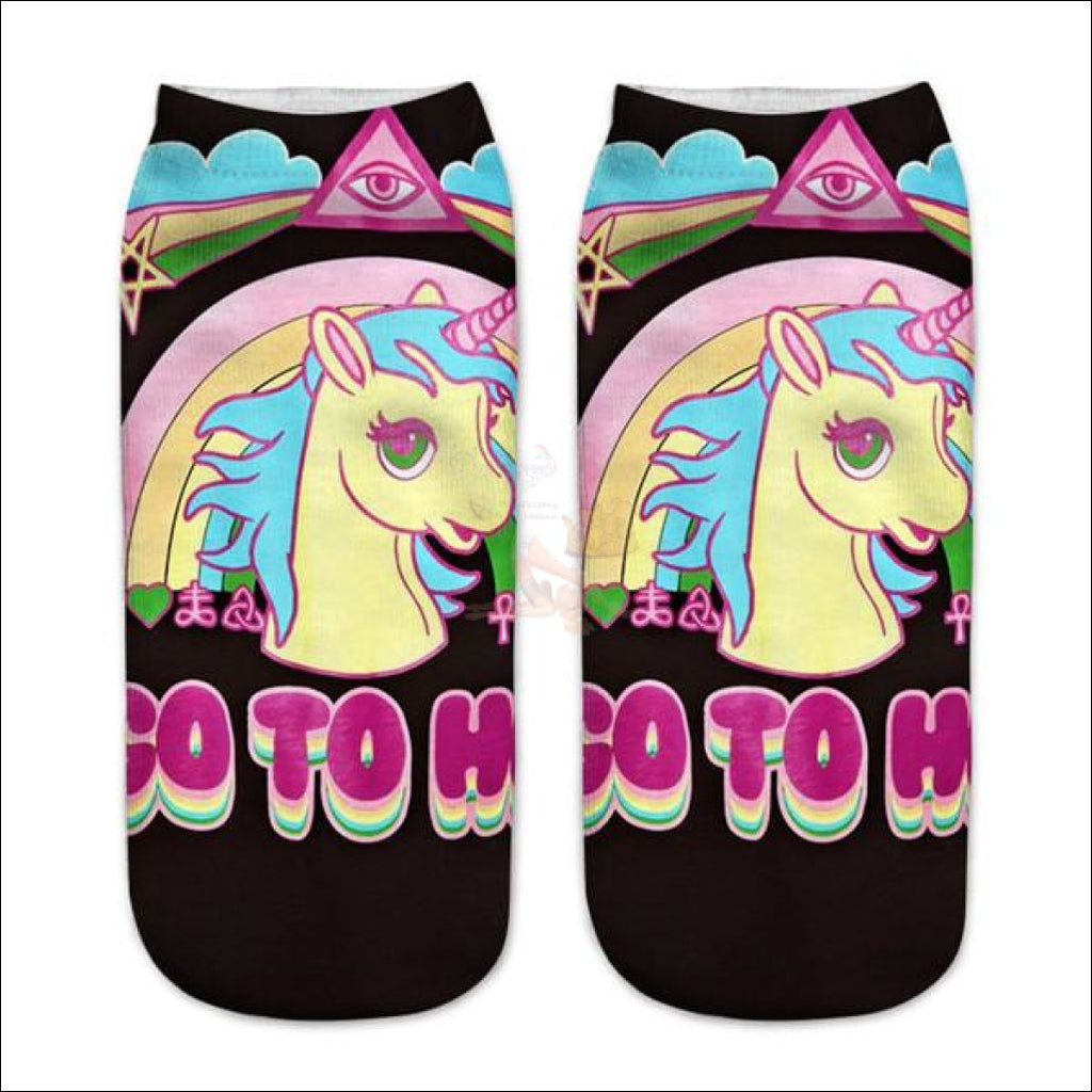 LOVELY UNICORN COOL SOCKS- BOOT SOCKS Unicorn 9  by Blissfactory Pet Supplies