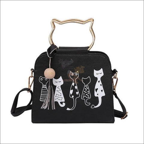 Image of Luxury  Cat Purse/Cat Bag- Designer Bags Black by Blissfactory Pet Supplies