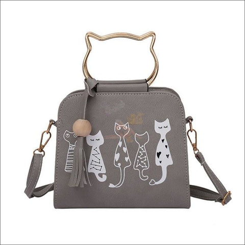 Image of Luxury  Cat Purse/Cat Bag- Designer Bags Gray by Blissfactory Pet Supplies