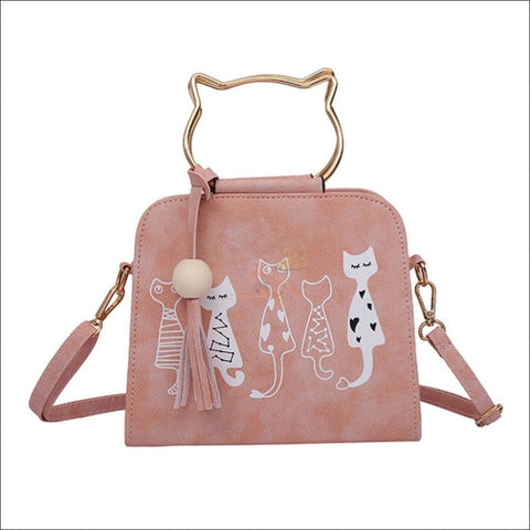 Luxury  Cat Purse/Cat Bag- Designer Bags Pink by Blissfactory Pet Supplies