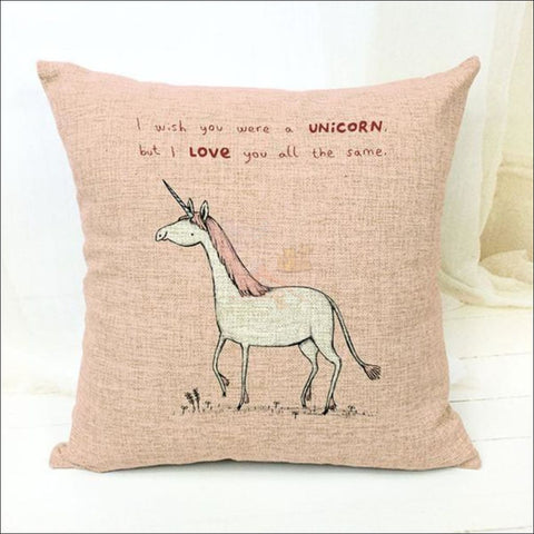 Magic Unicorn Pillow Covers (Free Shipping) 45 X Cm / 15 Cover