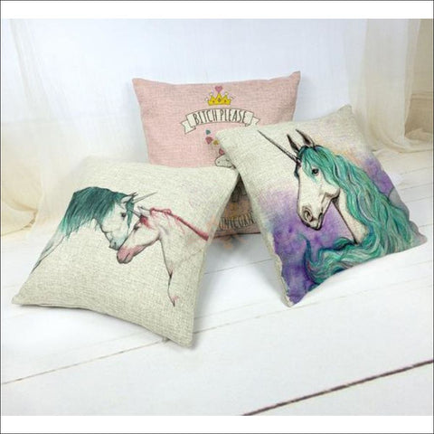 Magic Unicorn Pillow Covers- Best Home Decor Different design by Blissfactory Pet Supplies