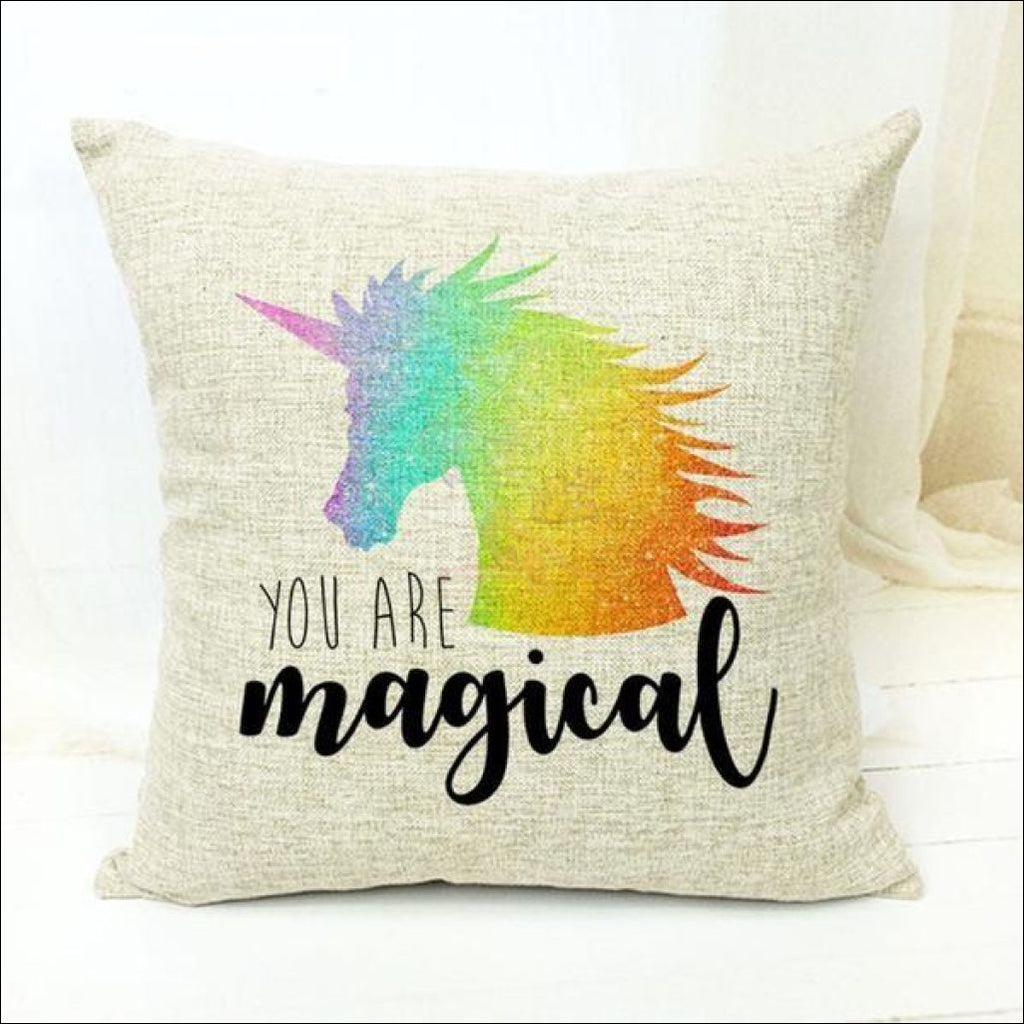 Magic Unicorn Pillow Covers- Best Home Decor 18 by Blissfactory Pet Supplies
