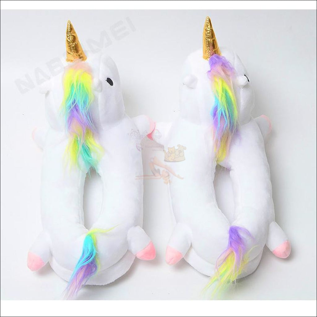 Magic Unicorn Plush Slippers (Free Shipping) Shoes