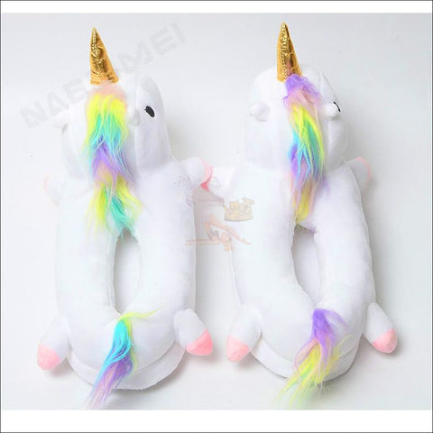 Image of Magic Unicorn Slippers- Womens Slippers/House Slippers Design by Blissfactory Pet Supplies
