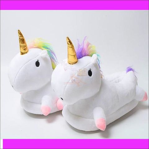 Magic Unicorn Slippers- Womens Slippers/House Slippers by Blissfactory Pet Supplies