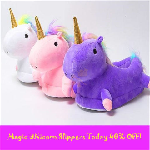 Image of Magic Unicorn Slippers- Womens Slippers/House Slippers 3 Different colors by Blissfactory Pet Supplies