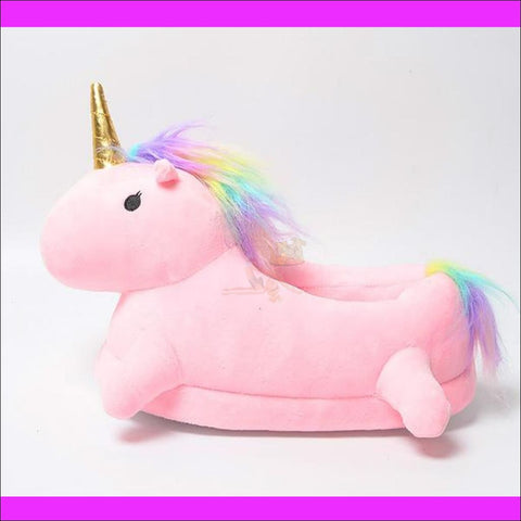 Magic Unicorn Slippers- Womens Slippers/House Slippers pink by Blissfactory Pet Supplies