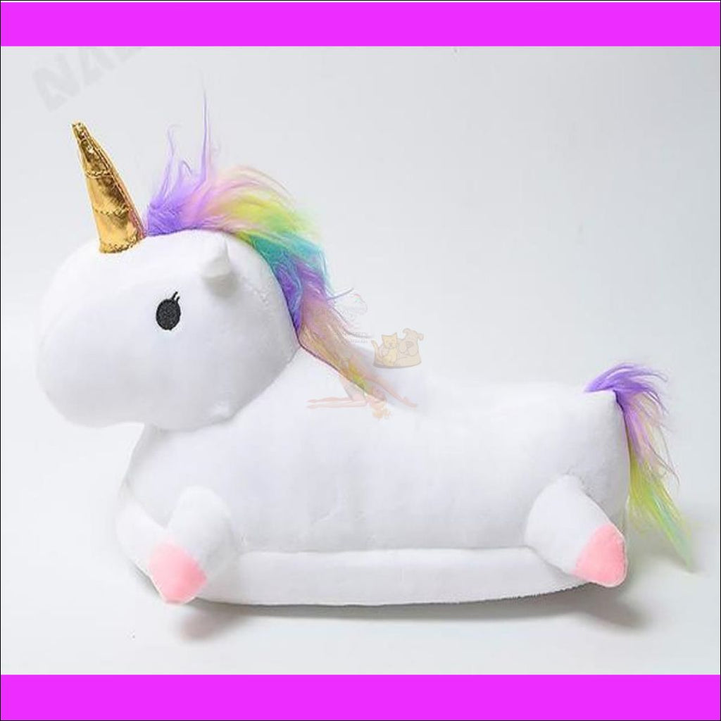 Magic Unicorn Plush Slippers (Free Shipping) White / 5 Shoes
