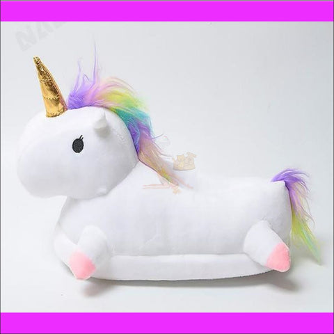 Image of Magic Unicorn Slippers- Womens Slippers/House Slippers by Blissfactory Pet Supplies