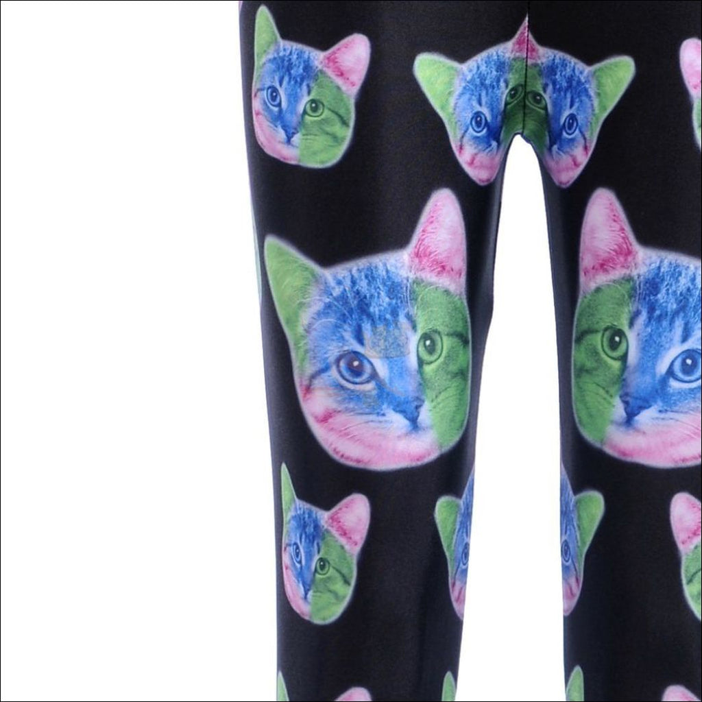 Cat Thigh High Socks-High Waisted Leggings by Blissfactory Pet Supplies