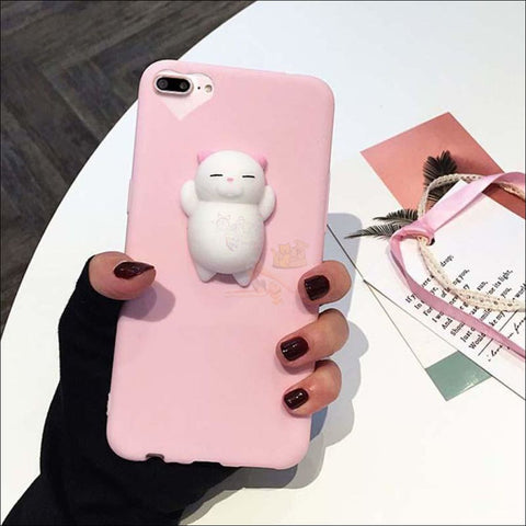 Cat Shaped Stress Balls Iphone Cases- cool iphone cases Cat Claw Pink by Blissfactory Pet Supplies