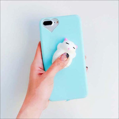 Image of Cat Shaped Stress Balls Iphone Cases- cool iphone cases Cat Blue by Blissfactory Pet Supplies