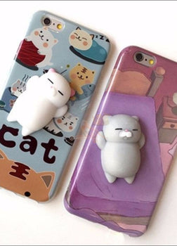 Mochi Squeeze Cat Samsung Cover (S7 - S8Plus) A + B Set / S7 Both Phone Cases