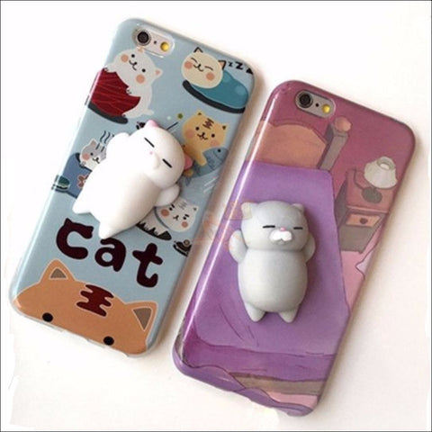 Mochi Squeeze Cat Samsung Cover (S7 - S8Plus) Phone Cases