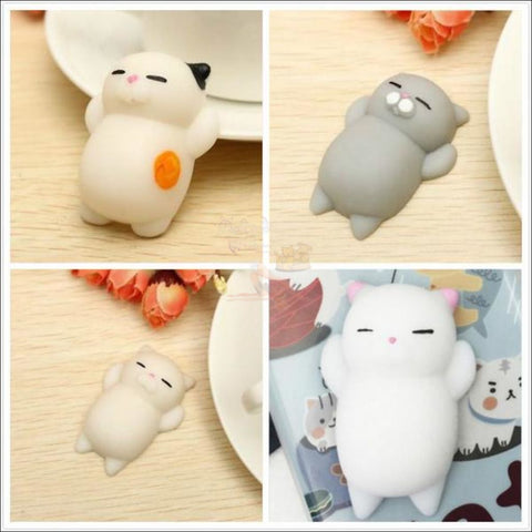 Mochi Squeeze Cat Samsung Cover (S7 - S8Plus) Set (4Pcs) / 4Pcs Sets Phone Cases