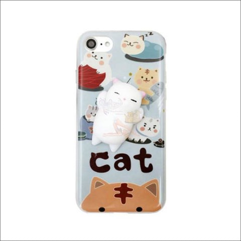 Mochi Squeeze Cat Samsung Cover (S7 - S8Plus) For Variant B / S7 Phone Cases