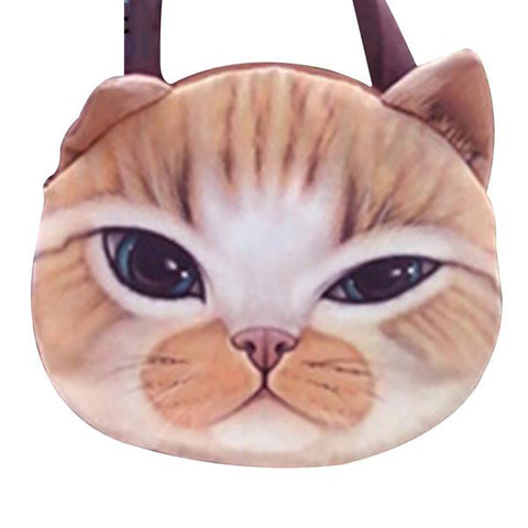 Large Funny Cute Cat Purse, Cat Bag kitty 2  by Blissfactory Pet Supplies