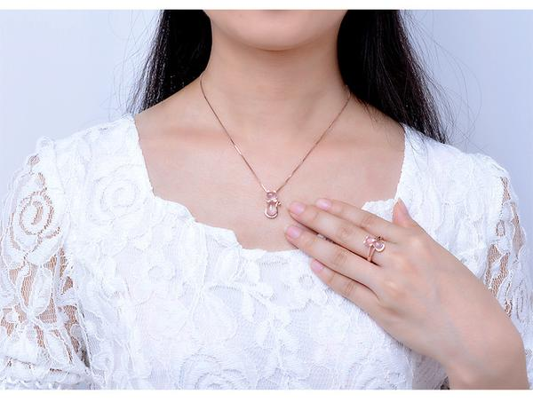 Cat Design bridal jewellery - Best rose gold jewelry Necklace mockup by Blissfactory Pet Supplies