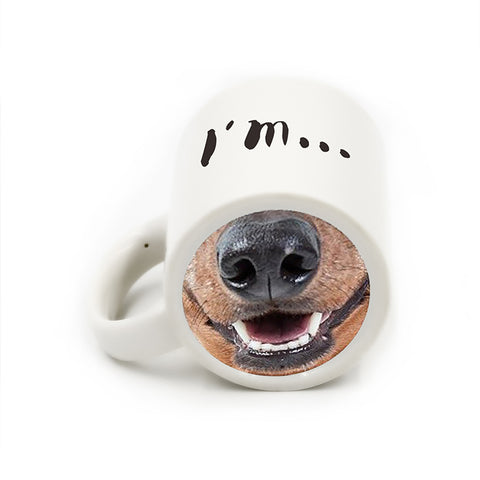 Funny Doggy Snout Coffee  Mug/Teacup Design by Blissfactory Pet Supplies