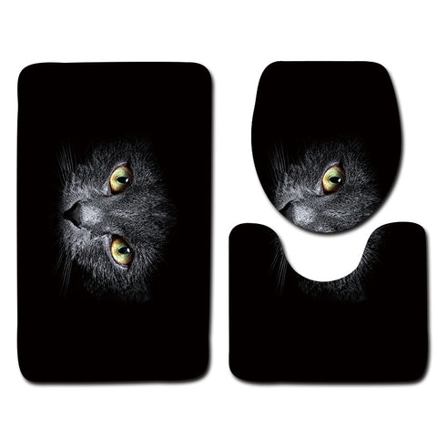 Anti-Slip Cat printed Bathroom Rugs Set- Best Bathroom Decor 12 By Blissfactory Pet Supplies