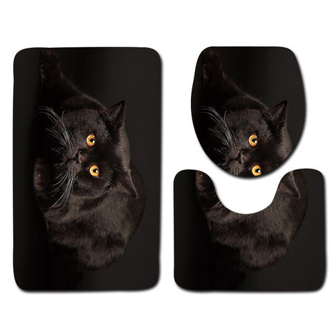 Anti-Slip Cat printed Bathroom Rugs Set- Best Bathroom Decor 14 By Blissfactory Pet Supplies