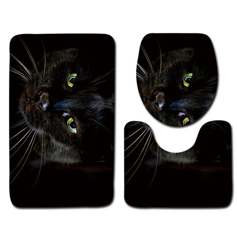 Anti-Slip Cat printed Bathroom Rugs Set- Best Bathroom Decor 9 By Blissfactory Pet Supplies
