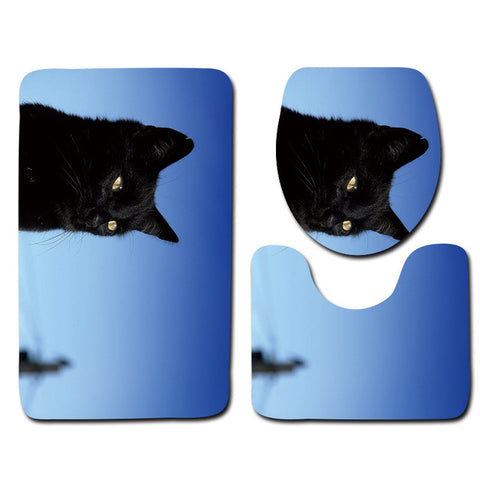 Anti-Slip Cat printed Bathroom Rugs Set- Best Bathroom Decor 16 By Blissfactory Pet Supplies
